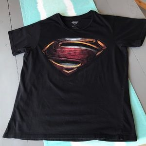 Other - Superman man of steel, black graphic t shirt. XL